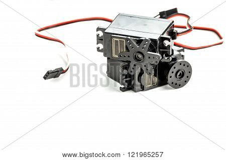 Small Electric Engines Isolated On White