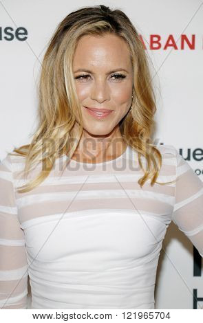 Maria Bello at the Los Angeles premiere of 'The Confirmation' held at the NeueHouse in Hollywood, USA on March 15, 2016.