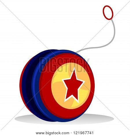 Vector Illustration of a colorful Yo yo