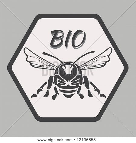 Logo with bee