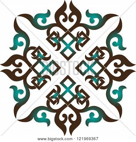 vector oriental chinese ornament, asian traditional pattern,  floral vintage element, cut silhouette