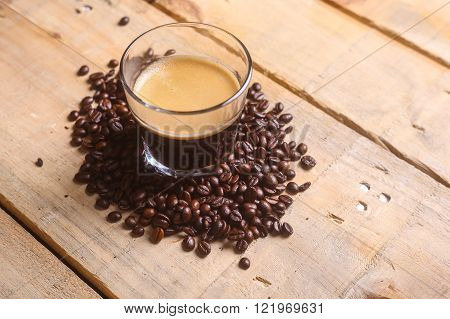 Coffee Beans And Fresh Coffee