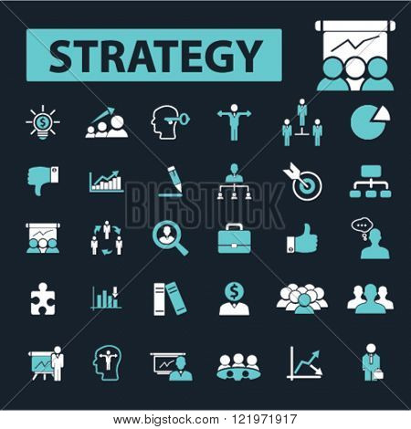 business strategy icons