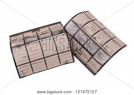 Air Conditioning Unit Filters With Full Of Dust And Particles