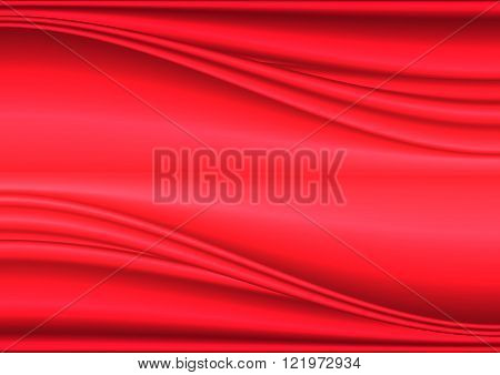Soft  Abstract Background with wave pattern in shades of red