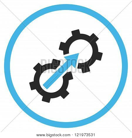 Gear Integration Flat Vector Icon