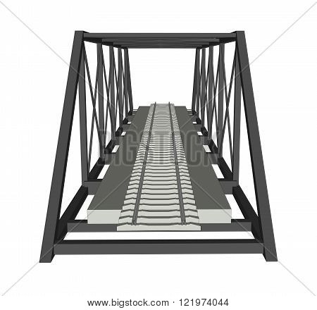 Abstract industrial bridge background