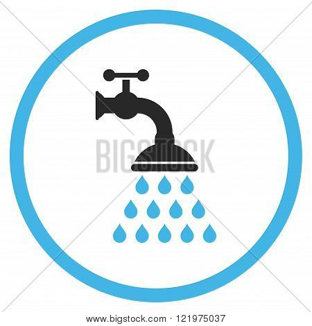 Shower Tap Flat Vector Icon