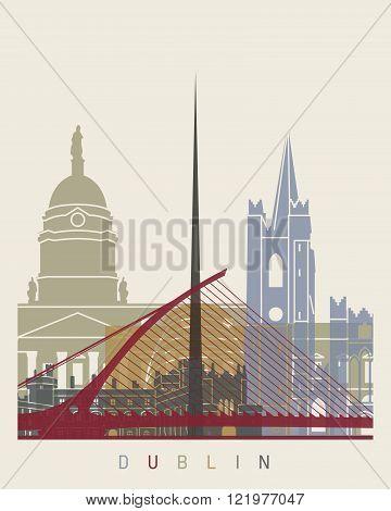 Dublin Skyline Poster