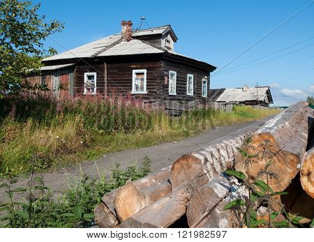 Summer rural landscape of central region Russia