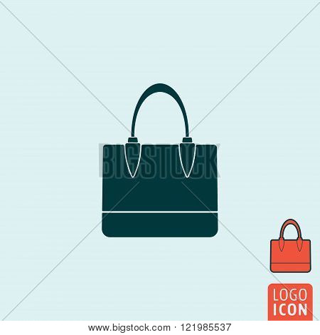 Handbag icon. Handbag symbol. Women bag icon isolated. Vector illustration