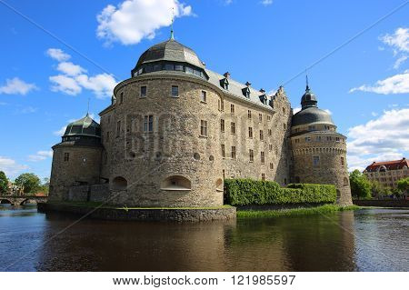 Orebro Castle at sunny summer day, Sweden