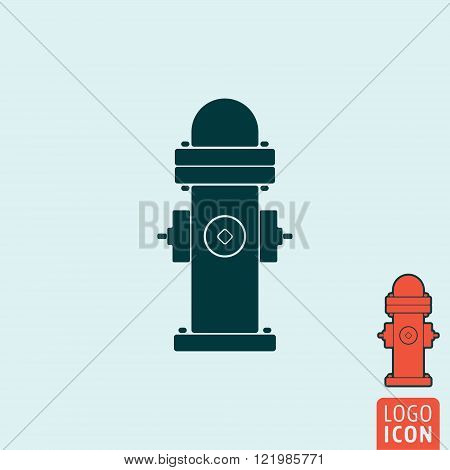 Fire hydrant icon. Fire hydrant symbol. Dry barrel hydrant icon isolated. Vector illustration