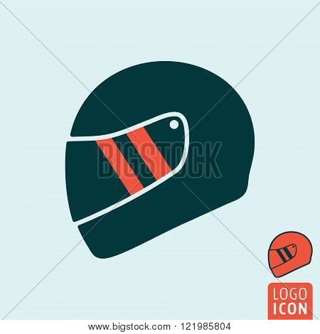 Helmet icon. Helmet symbol. Motorcycle helmet icon isolated. Vector illustration