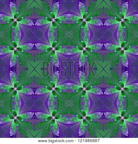 Seamless pattern in stained-glass window style. You can use it for invitations notebook covers phone case postcards cards wallpapers and so on. Artwork for creative design art and entertainment.