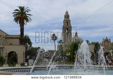Plaza de Panama and Fountain in Balboa Park