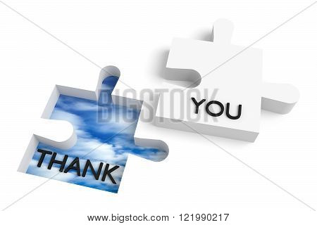 Missing puzzle piece, thank you with sky hole