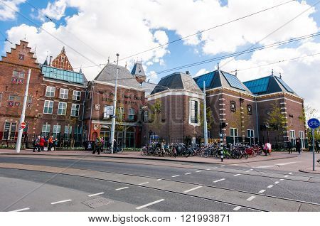 AMSTERDAM-APRIL 30: The Rijksmuseum (south-west side) on April 30 2015.The Rijksmuseum Amsterdam is the principal museum of the Netherlands and one of the top 10 Museums in the world.