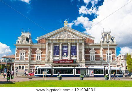 AMSTERDAM-APRIL 30: The Royal Concertgebouw on April 302015 in Amsterdam the Netherlands.The Royal Concertgebouw is a concert hall in Amsterdam the Netherlands.