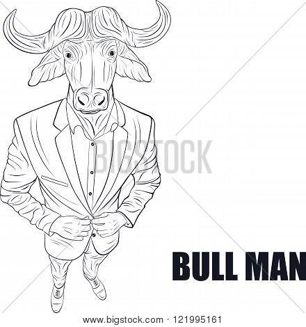 Cartoon character bull