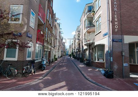 AMSTERDAM-APRIL 30: Jordaan district on April 302015 in Amsterdam the Netherlands.The Jordaan is a neighbourhood of the city of Amsterdam with its famous art galleries particularly for modern art.