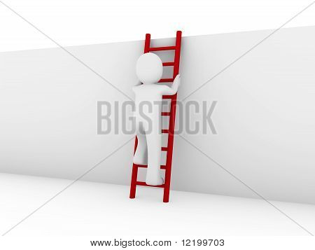 3D Human Ladder Red