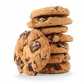 stock photo of chocolate-chip  - Extreme close - JPG