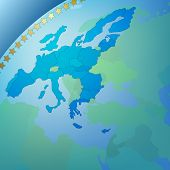 Abstract Business Background Europe Map poster