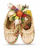 foto of phylacteries  - Ukrainian souvenir made of dried materials and plants - JPG