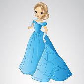 Beautiful Cinderella In Blue Dress poster