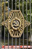 stock photo of armorial-bearings  - iron curtain - JPG