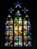 pic of stained glass  - Stained glass window - JPG