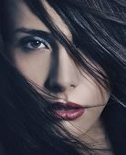 picture of beautiful woman  - Fine art portrait of a young beautiful woman - JPG