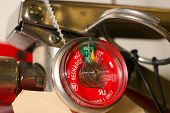 stock photo of fire extinguishers  - close up of fire extinguisher charge gauge