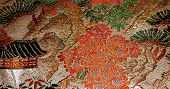Detail Of Historic Japanese Textile poster