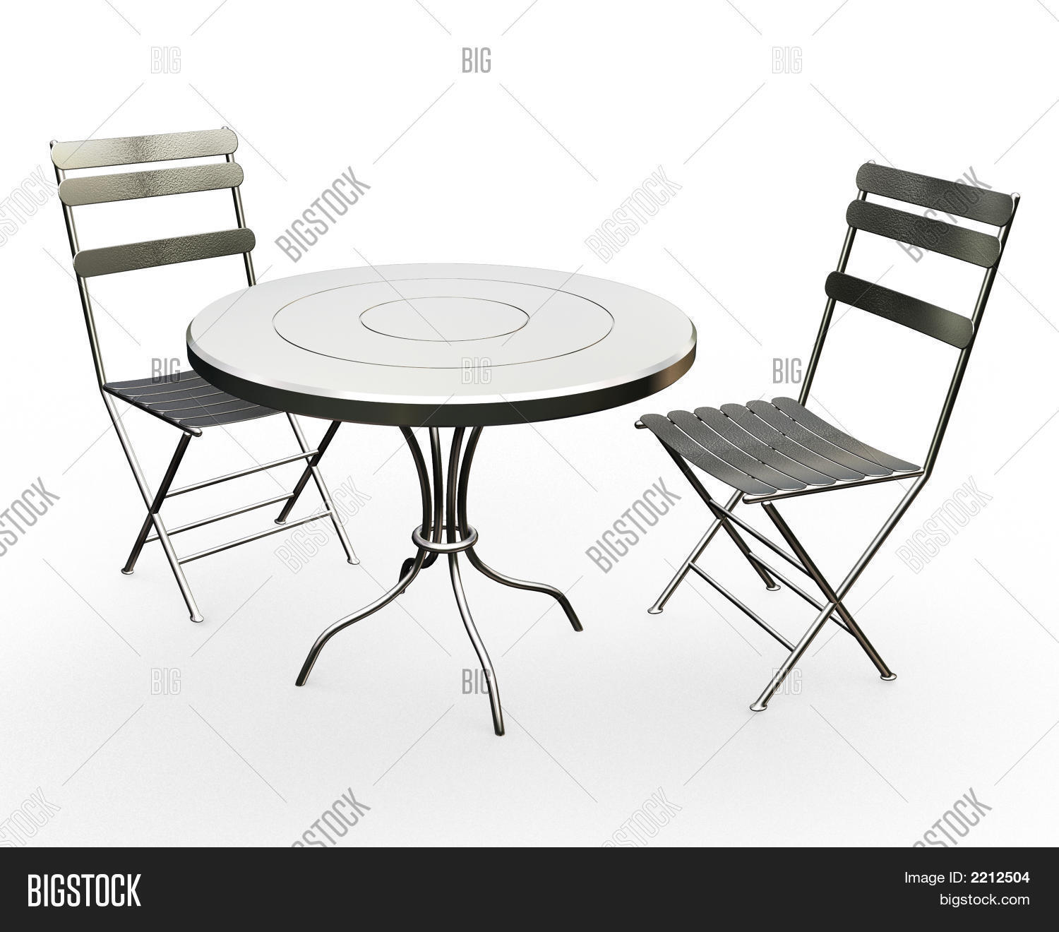 Cafe Table Chairs Image &