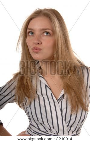 Business Women With Pursed Lips