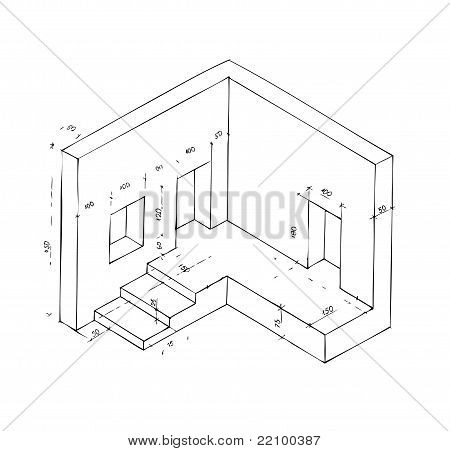 Small Plan Of Part Of Building