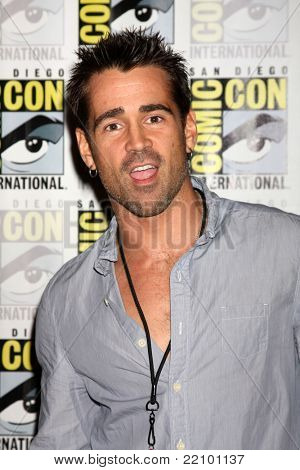 SAN DIEGO - JUL 22:  Colin Farrell at the 2011 Comic-Con Convention - Day 2 at San Diego Convention Center on July 22, 2010 in San DIego, CA.