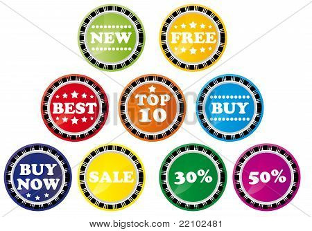 Set of shopping tags