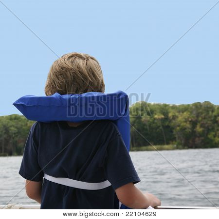 Boy with Life Jacket