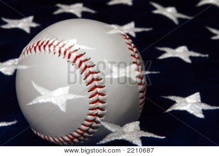 Baseball And Flag