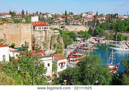 Turkey. Antalya Town. View Of Harbor