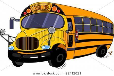 Illustration  of a  School Bus
