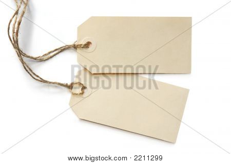 Two Blank Tags
