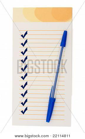 Erstellen einer Checkliste