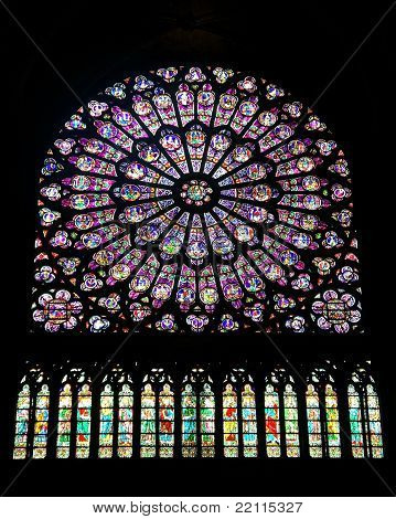Rose Window at Notre Dame, Paris