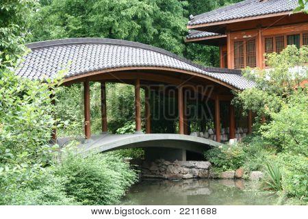 Bridge Leading To Pavillion