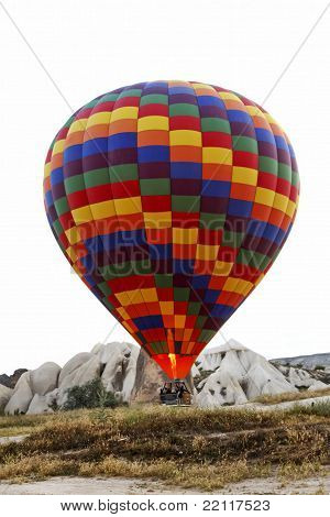 Hot Air Balloon Lift Off Ground Flame