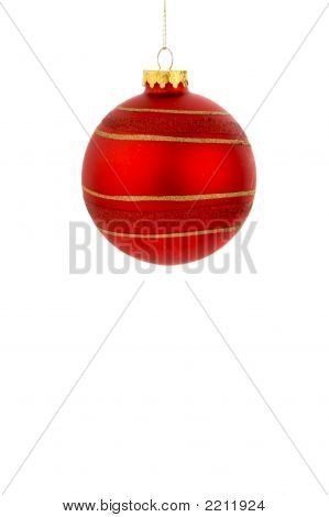 A Red Christmas Ornament
